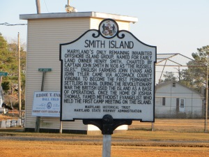 Smith Island Historical Marker