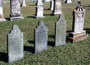 Drach family headstones near New Windsor