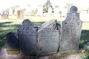 Bond family headstones near Uniontown