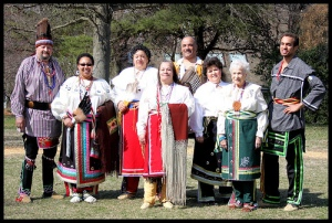 Modern Piscataway in traditional garb.