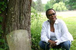 Amelia Martin tombstone, African American burial ground. Photo credit: Dalyn Huntley