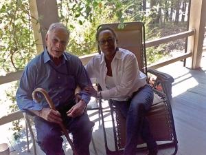 The author with Mr. Orlando