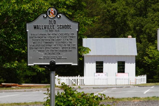 The original Wallville School, ca. 1880, was probably typical of the one-room schoolhouses Harriet Brown would have taught in when she arrived in Calvert County in the 1930s. This is believed to be the oldest extant African American school building in the county. Photo: David Krankowski.