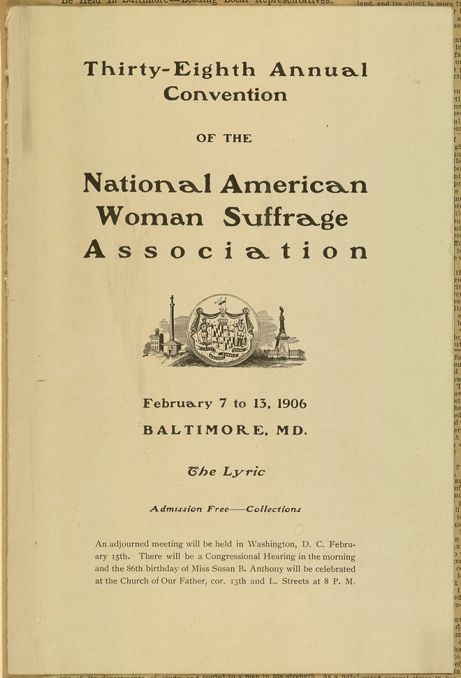 NAWSA Lyric Program Cover. LOC