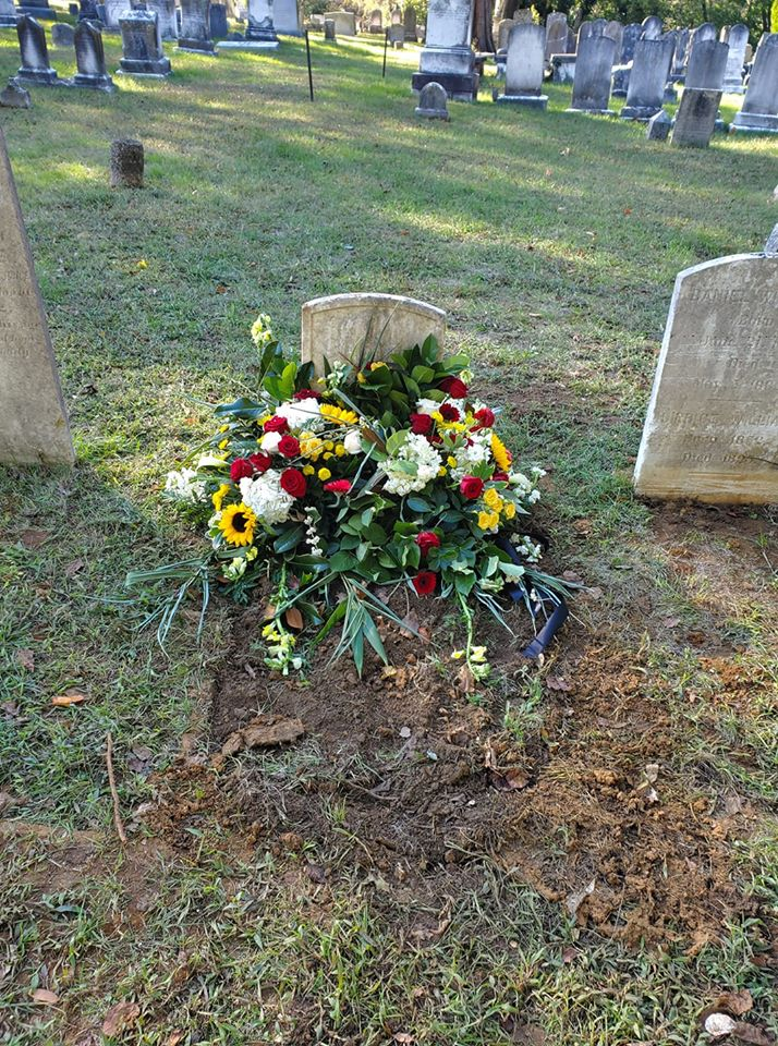 Figure 5: Smith Price family cemetery remains returned to the earth at St. Anne's Cemetery in Annapolis. Photo credit: Janice Hayes-Williams