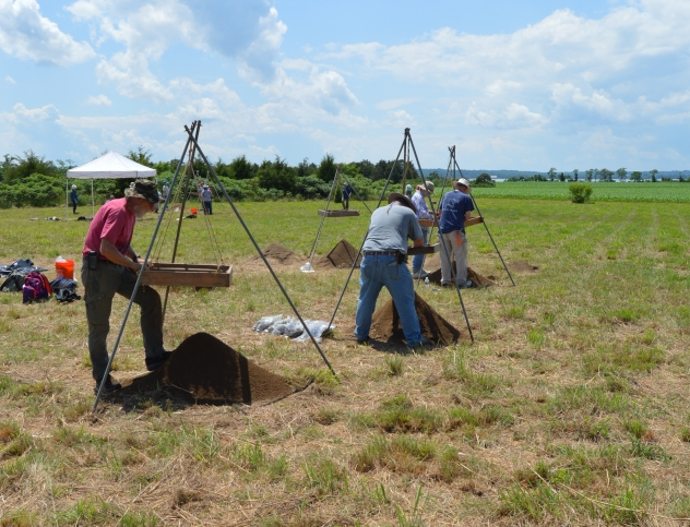 Excavation underway at the 17th Century Calverton Site