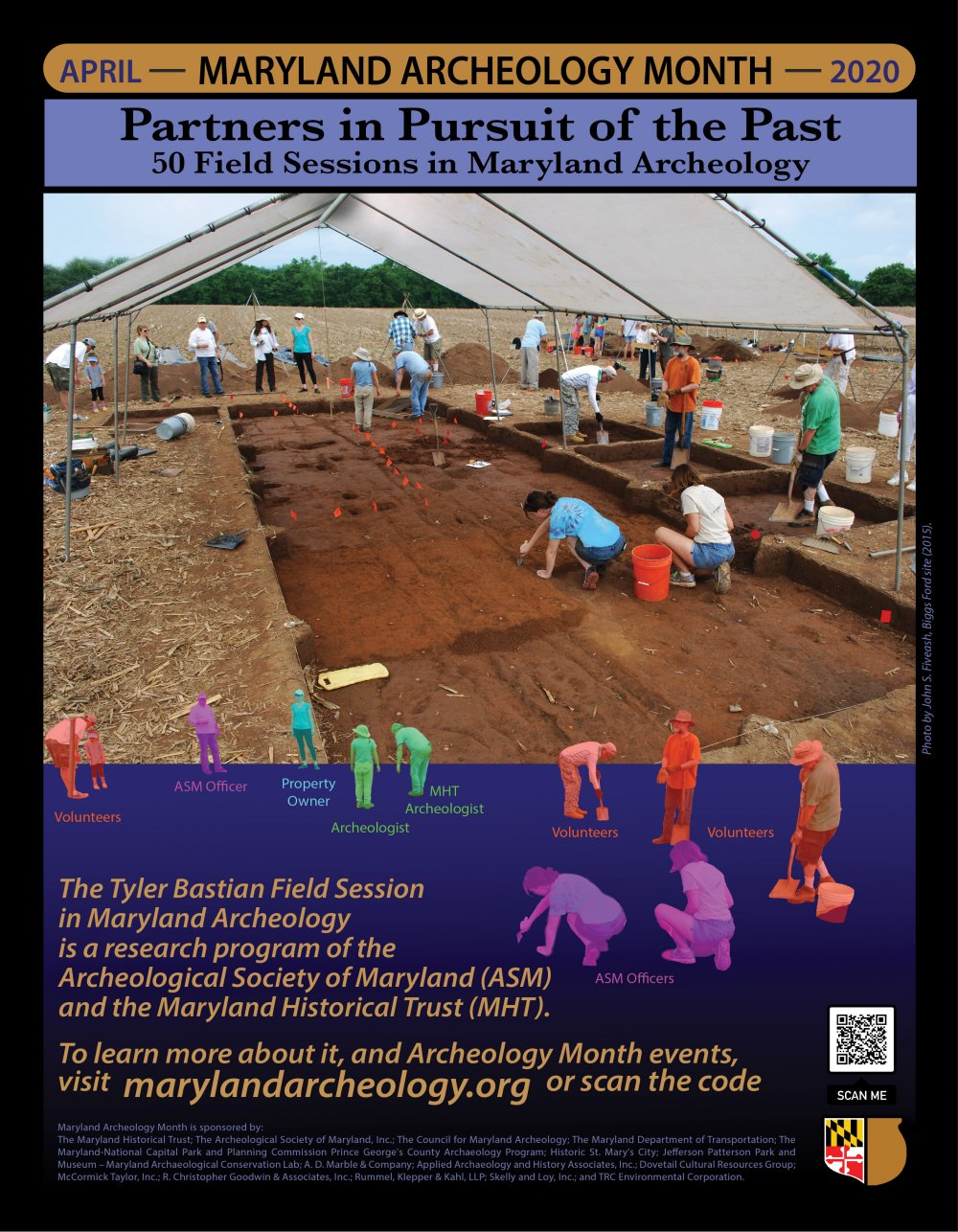 2020 Maryland Archeology Month Poster
